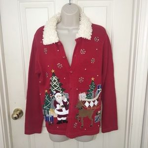 Silly Christmas Cardigan-S
